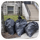 Bags full of waste