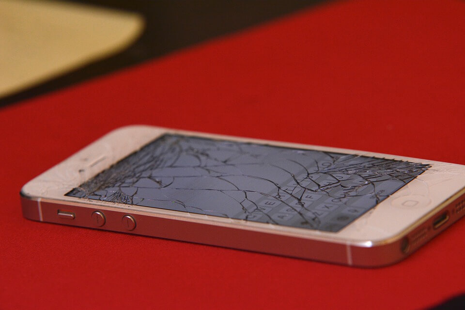 A phone with broken touch screen