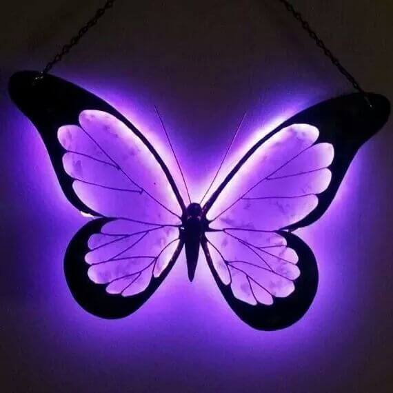 Butterfly made from recycled metal