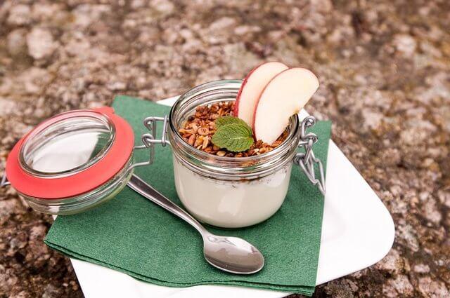 Dessert in a small jar