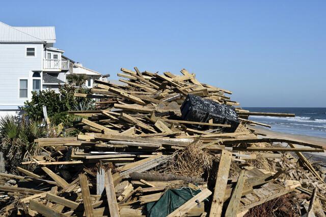 Wood Waste After Demolition